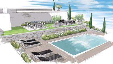 Nice, Villa, aménagement paysager