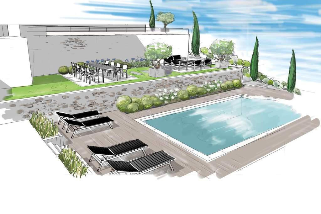 Jardin piscine cr ateur de jardins for Piscine pour jardin