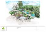 Croquis jardin, Vence 06, paysagiste Vincent Aujard